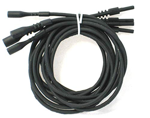 Black Necklace Silicone Cord 16