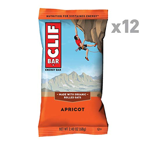 CLIF BAR - Energy Bar - Apricot - (2.4 Ounce Protein Bar, 12 Count)