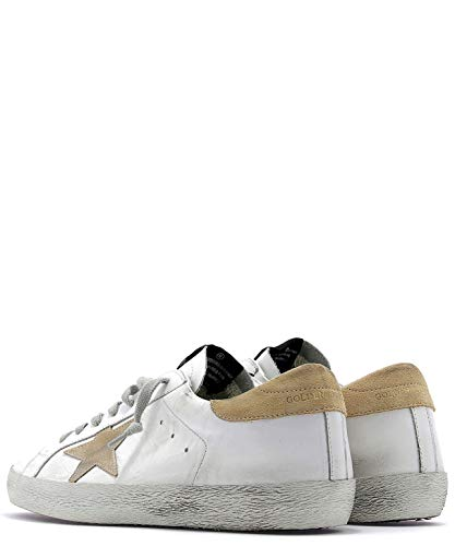 Pelle Sneakers Uomo Golden G34ms590n16 Bianco Goose wqP7S6I