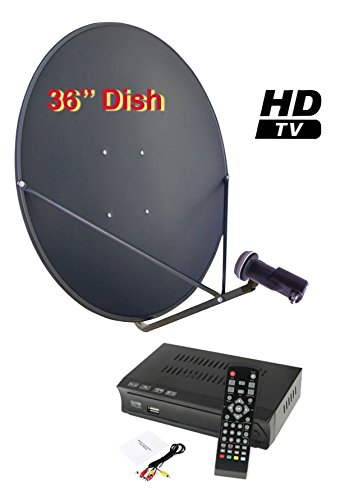 "Sadoun S1-PVR200 36"" FTA Complete HD DVR Satellite System Free To Air"