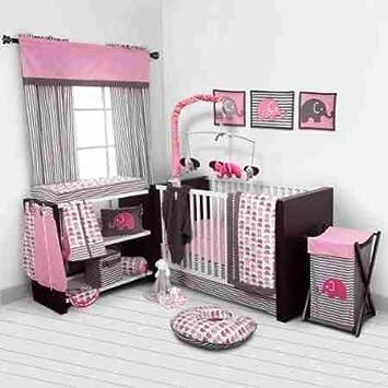 Amazon Com Bacati Elephants 10 Piece Nursery In A Bag Crib