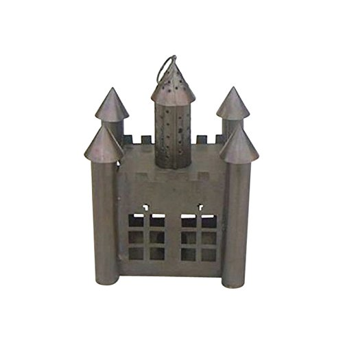 Iron Candle lantern Castle Antique Finish Outdoor Camping (Castle Bronze Finish)