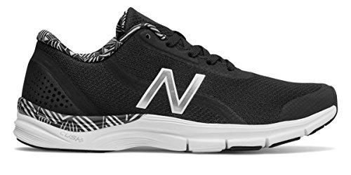 ペース部分的あなたは(ニューバランス) New Balance 靴?シューズ レディーストレーニング 711v3 Mesh Trainer Black with White ブラック ホワイト US 7.5 (24.5cm)