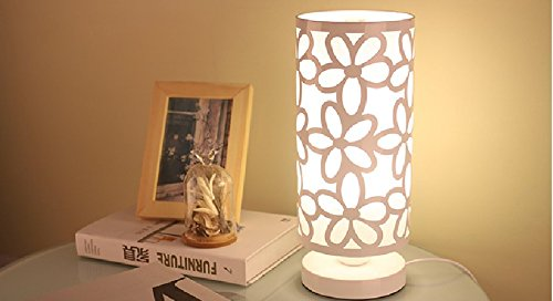 FSLiving Simple Table Lamp Bedside Desk For Bedroom Dresser Living Room