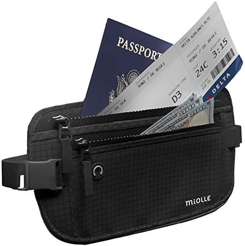 Money Belt Travel RFID Waterproof