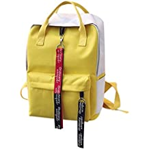 Keepfit Leisure Zipper Book Bag, Double Strap Backpack Student Bag Couple Travel Bag Shoulder Bag