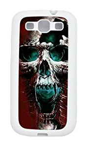 Samsung S3 Case,VUTTOO Cover With Photo: Wicked Skull For Samsung Galaxy S3 I9300 - TPU White