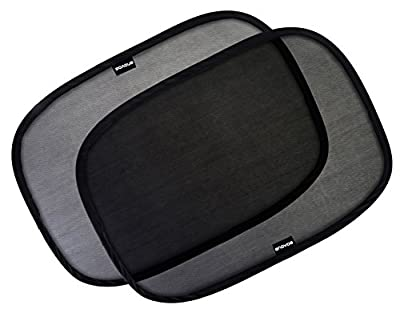 "Car Window Shade - (2 Pack ) - 21""x14"" Cling Sunshade For Car Windows - Sun, Glare And UV Rays Protection For Your Child - Baby Side Window Car Sun Shades By Enovoe"