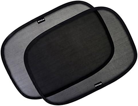 Enovoe 車の窓用サンシェード- - 21x14インチ (53.34x35.56cm) ぴたっとくっつく車の窓用日よけ まぶしさ軽減 紫外線保護 子供 赤ちゃん 車のサイドウィンドウ用 日よけ