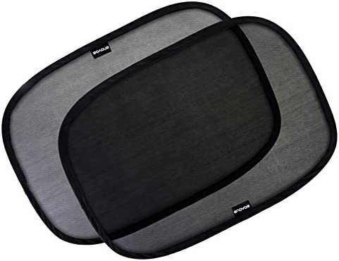 "4 Pack Enovoe Car Window Shade 21/""x14/"" Cling Sunshade for Car Windows"