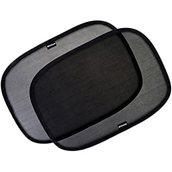 """Car Window Shade - (3 Pack ) - 21""""x14"""" Cling Sunshade For Car Windows - Sun, Glare And UV Rays Protection For Your Child - Baby Side Window Car Sun Shades By Enovoe"""