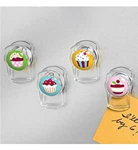 Spectrum Cupcake Magnetic Clips 4 Pack