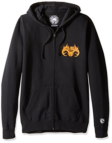 Metal Mulisha Men's Dusk Zip Up Sweatshirt, Black X-Large