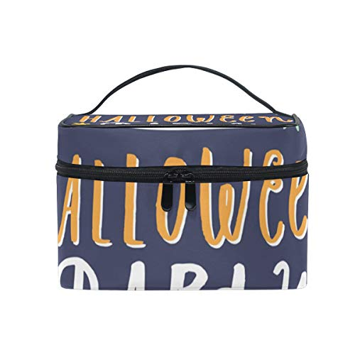 OREZI Halloween Party Flyer Cosmetic Bag Large Multifunction Makeup Travel Toiletry Travel Kit Organizer Case with Quality Zipper Portable for Makeup Bag for Women