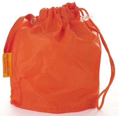 GoKnit Medium Orange Knitting Project Bag with Loop & Drawstring Knowknits