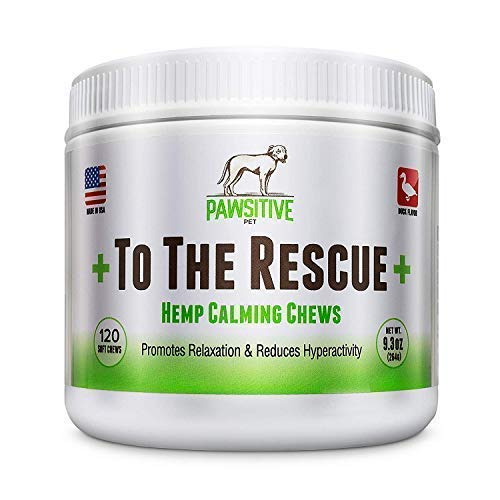 +To The Rescue+ Calming Treats for Dogs Dog Anxiety Relief with Hemp Oil - We donate to a rescue for every bottle sold! Dog Calming Treats with Natural hemp oil for dogs 120 Hemp soft Chews