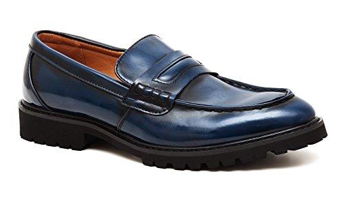 shoes scarpe scuro uomo Mocassini blu eleganti cerimonia man's class qpwg10