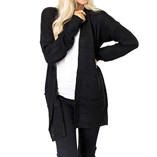 NUWFOR Women Long Sleeve Winter sweatershirt Loose Solid Leotard Sweater(Deep Gray,US:14/CN:S) ()