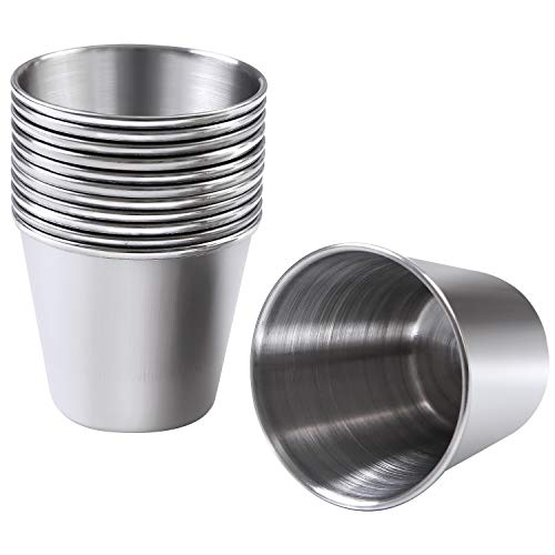 Ruisita 12 Pieces Stainless Steel Shot Cups Stainless