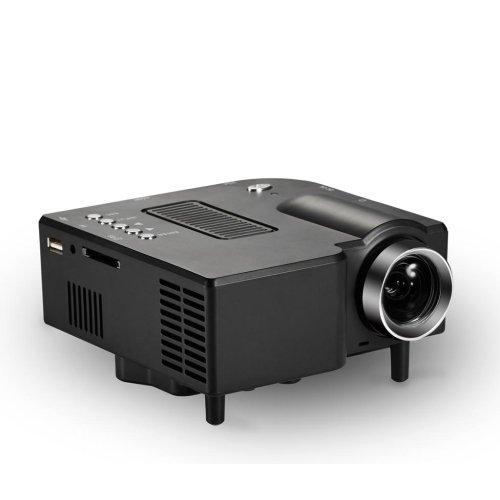 LightInTheBox Barcomax GP5S Mini Led Projector 320240 Super Bright LED Technology PC Laptop VGA USB SD HDMIHome Video Movie Theater Mini Projectors, Color=Black