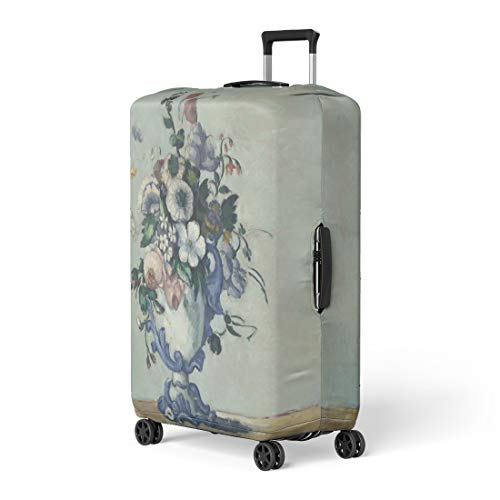(Pinbeam Luggage Cover Flowers in Rococo Vase By Paul Cezanne 1876 Travel Suitcase Cover Protector Baggage Case Fits 26-28 inches )