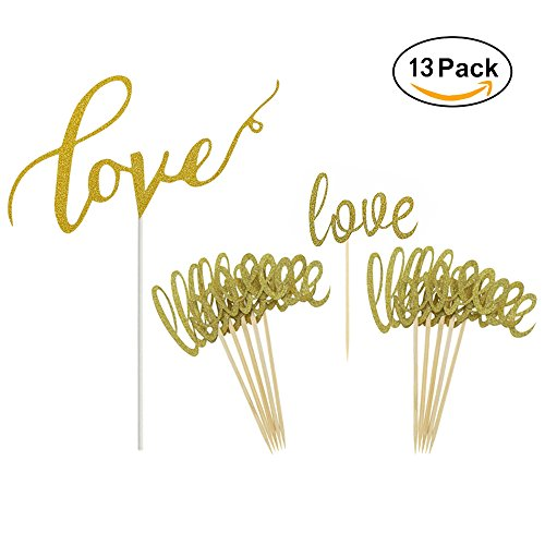 Gold-Love-Cake-Topper-Mini-Love-Cupcake-Toppers-Picks-For-Wedding-Bridal-Shower-Engagement-Decorations-Supplies-by-GOCROWN