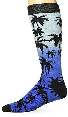 K. Bell Socks Men's Palm Crew, Black, Sock Size:10-13/Shoe Size: - In Black Men K