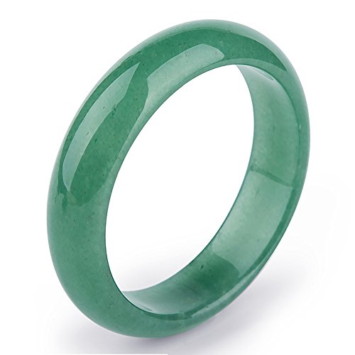 (Auspicious Cloud Natural Green Jade Bracelet Bangle for Womens (Small Size))