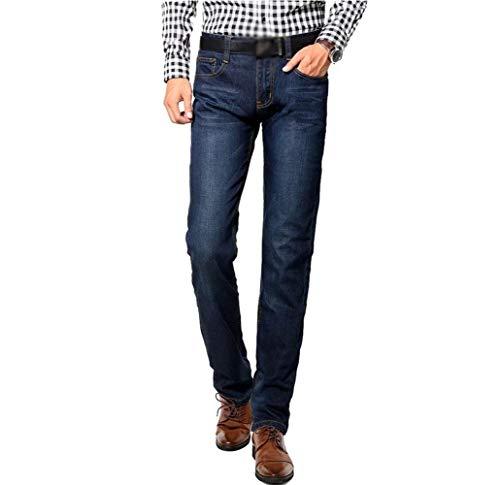 Skinny Uomo Dritti A Pantaloni Slim Huixin Fit Lavati Gamba Jeans Dritta Denim Business Blaublack FngX1z