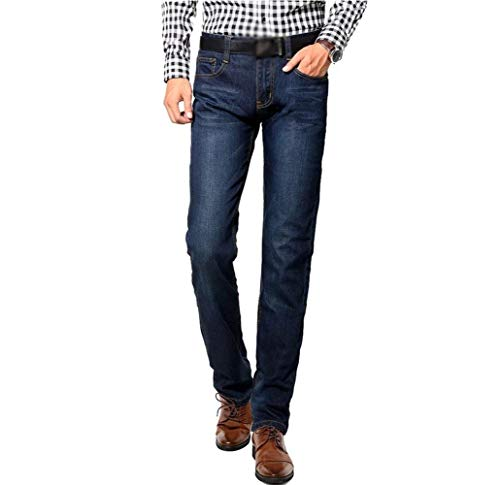 Denim Pantaloni Jeans Dritta Slim Business Estilo Fit Blaublack Dritti Gamba Uomo Lavati A Especial YERrYnvq7w
