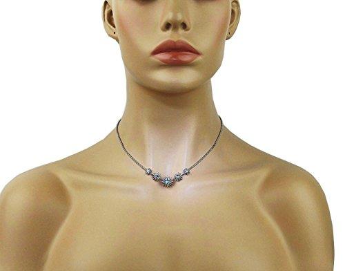 david-yurman-starburst-sterling-silver-5-stations-blue-topaz-necklace-new-box