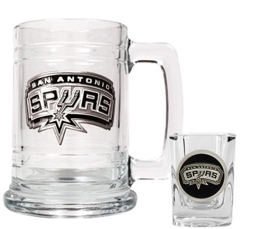 NBA San Antonio Spurs Boilermaker Set - Primary (Nba Basketball Beer)