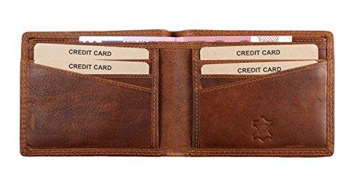 Pranke ECHT Leder Herren / Damen Geldbörse ohne kleingeldfach Portemonnaie Rindsleder Portmonee Geldtasche Kartenetui