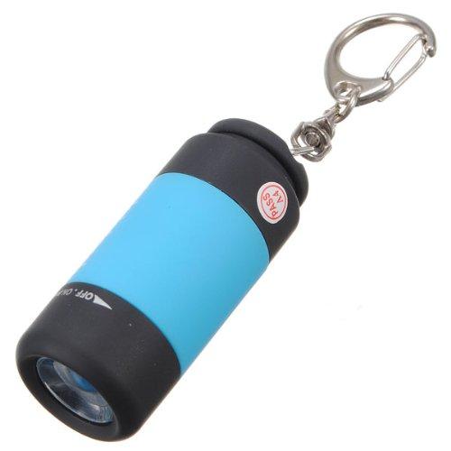 1 pcs Mini USB torche lampe de poche led portable rechargeable porte cl/é
