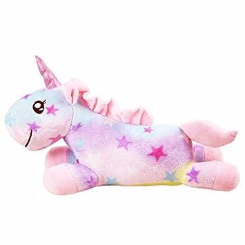 Amazon.com: lemongo felpa almohada de peluche de unicornio ...