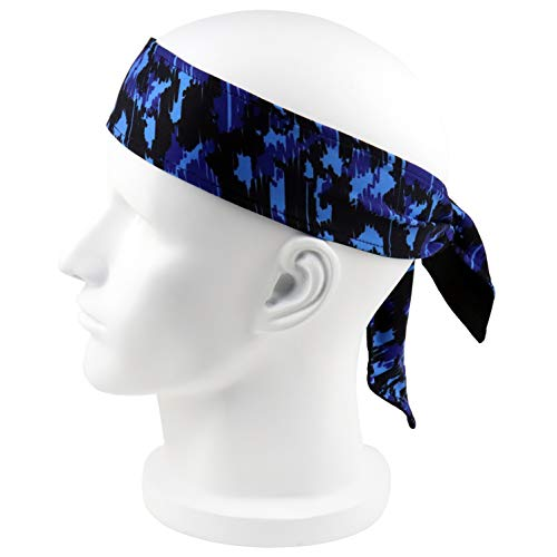 FPPING Head Wrap Ties Headbands for Men and Women: Sports Sweatbands Thin Elastic Band Hair Tie]()