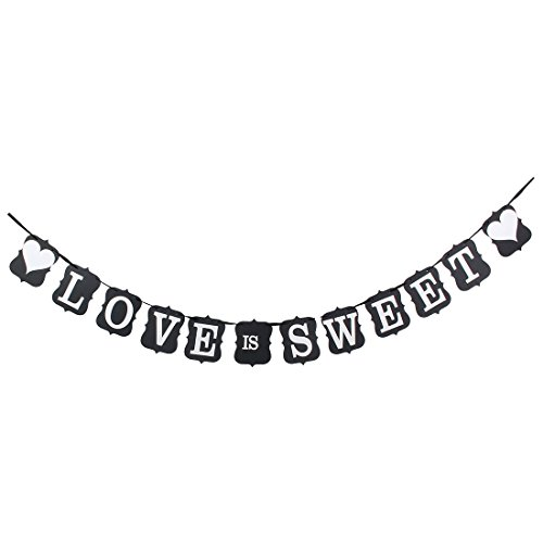 Sweet Love Letters (uxcell® Paper Wedding Party Decor LOVE IS SWEET Letter Banner Bunting Photo Card Prop)
