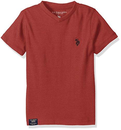 U.S. Polo Assn. Boys Half Burnout V-Neck T-Shirt