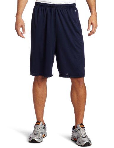 Long Inseam Shorts (Soffe Men's Extra Long Poly Closed Hole Mesh Short Navy Large)