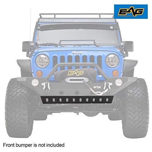 EAG Lower Skid Plate Fit for Bumper JJKFB036 / JJKFB001 Fit for 07-18 Jeep Wrangler JK