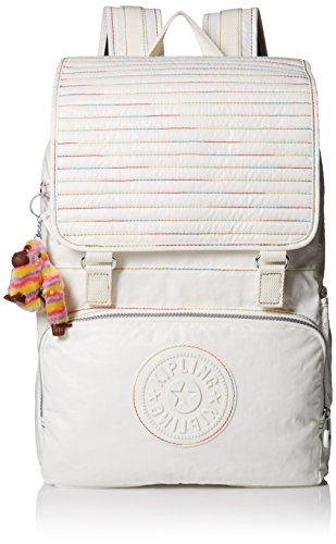 Kipling Washington Large Backpack, Lacquer White Rainbow Stripe