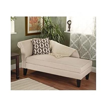 Amazon Com Beige Tan Storage Chaise Lounge Sofa Chair Couch For Your Bedroom Or Living Room Kitchen Dining