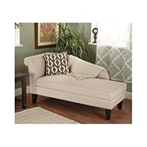 Beige tan storage chaise lounge sofa chair couch for your bedroom or living room - Sofa bed with chaise lounge ...