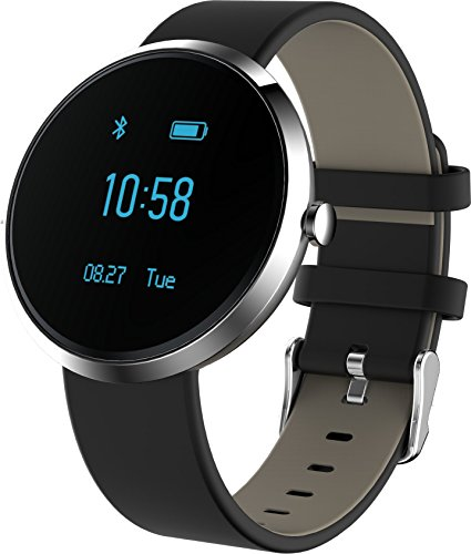 KESSDER H Band Fitness Tracker Watch; Monitors Blood Pressure, Heart Rate, Activity and Sleep, with App for Android and IOS (Silver)