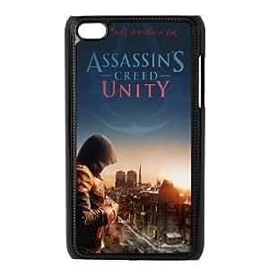 iPod Touch 4 Case Black Assasins Creed Unity Mweio