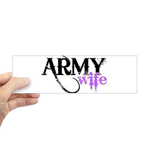 CafePress Purple Army Wife Bumper Sticker 10
