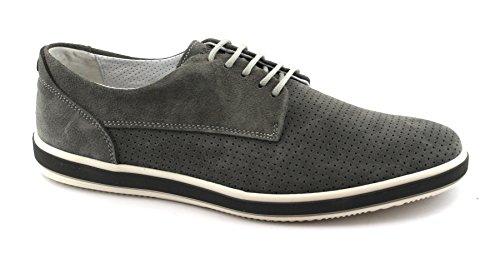 IGI&Co 1108900 Hombres Zapatillas Gris Cordones Zapatos del Ante Grigio