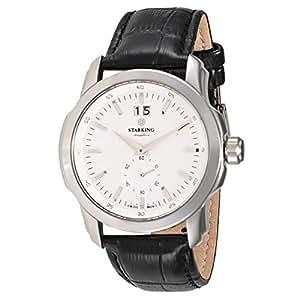 Starking Men's White Dial Leather Band Watch - BM0858SL21