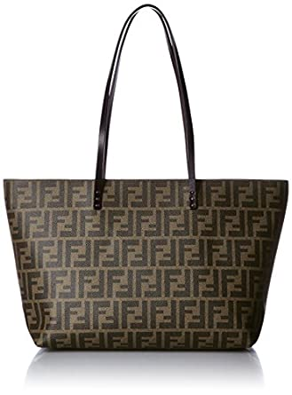 a7bcfe8d47 ... reduced fendi zucca pattern 8bh198 00g87 f0qt2 leather tote bag 71ba7  f5191