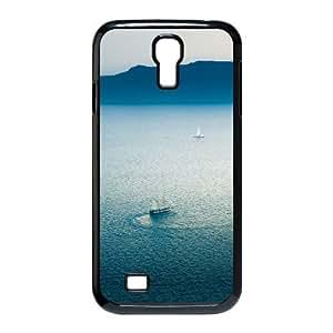 3D Okaycosama Funny Samsung Galaxy S4 Case Sea and Sky Line for Girls, Samsung Galaxy S4 Cases for Girls Cheap, [Black]